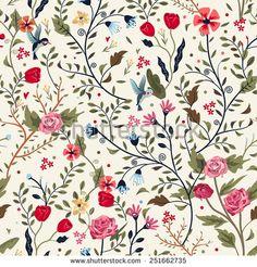 Bird Flower Pattern 스톡 사진, 이미지 및 사진 | Shutterstock