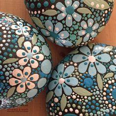 Bemalte Steine Mandala inspirierte Design natürliche Home