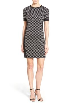 MICHAEL MICHAEL KORS 'Champlin' Short Sleeve Body-Con Dress (Regular & Petite). #michaelmichaelkors #cloth #