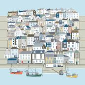 Designs by stitchyrichie for sale on Spoonflower custom fabric and wallpaper Surface Design, Custom Fabric, Spoonflower, Coastal, Multi Story Building, Photo Wall, Cabin, Wallpaper, World