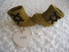 crochet baby booties Ugg stylebaby slippersbaby by Bootilicious