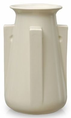 Teco Art Pottery Collection™ Four Buttress White Vase. It's seen in several other glazes but matte white shows the form best.