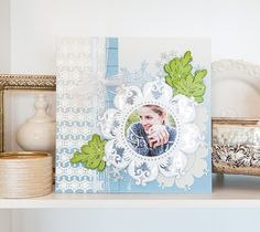 We believe that memory keeping is an art! This scrapbook layout has many beautiful layers that will keep your eyes moving around the images just like a piece of artwork!  Make it Now: https://us.cricut.com/design/?utm_content=buffer9b591&utm_medium=social&utm_source=pinterest.com&utm_campaign=buffer#/landing/project-detail/9519