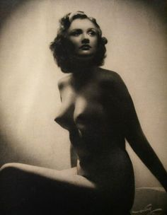 "A wartime, politically-approved National Socialist idealized female from the German nudism (""Nacktkultur"") photography book series Geist und Schönheit (""Spirit and Beauty"", 1940)"