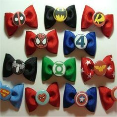 Just in case her brothers don't like her, we could get her these and then they would absolutely love her! ;D Comic book bows ! These would be a cute bowtie for a baby boy, or in a little girls hair!! and my kids will DEFINITELY have all of them!
