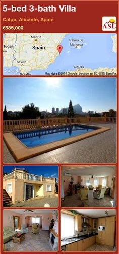 5-bed 3-bath Villa in Calpe, Alicante, Spain ►€585,000 #PropertyForSaleInSpain