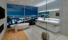 Open Plan Bathroom With A View