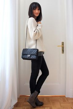 Zara Oversized Knit Sweater, Cox Grey Wedges