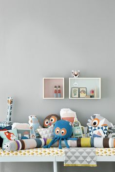Ferm Living Tiger Musical Mobile, on top of box to the right, available at #polkadotpeacock. #peacocklove #FERMliving