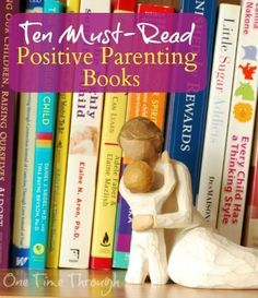 Find kernels of wisdom from the 10 best MUST-READ positive parenting books available today! Including tips from Alfie Kohn, Adele Faber and Elaine Mazlish, Judy Arnall, Pam Leo, Lawrence J. Cohen, Alyson Schaefer, Daniel Siegel and Gary Chapman {One Time Through} #parenting #naturalparentingbooks