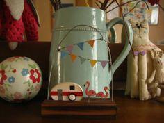 Caravan and Flamingos from the Seaside Design Inspiration, Mugs, Caravan, Tableware, Seaside, Friends, Pretty, People, House