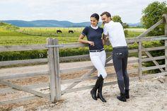 "Pantalone equitazione uomo EQUI-THEME modello ""Léo"" monta inglese."
