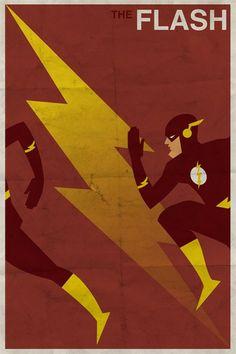 Vintage DC Superhero Posters : FLASH