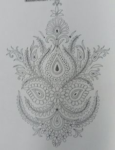 Hand Embroidery Projects, Embroidery Neck Designs, Embroidery Works, Hand Embroidery Patterns, Zentangle Patterns, Mehndi Designs Book, Aztec Tattoo Designs, Doodle Designs, Kurtha Designs