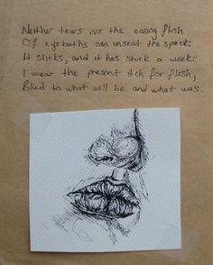 #drawing #ink #inktober2016 #art #sylviaplath #poetry