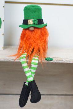 Duende verde St Patricks Day decoración por thelittlegreenbean