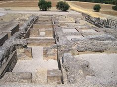 The ruins of the major Roman battles of Italica, Spain.