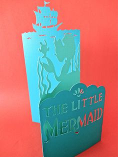 The Little Mermaid Standing Folded Card by thedaydreamprincess