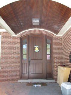 Fiberglass Doors   Therma Tru. Match Stains   Notice Wood Above And Door.