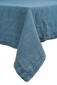 Harmony - Nappe en lin lavé Nais - Bleu Petrole - Home Beddings and Curtains