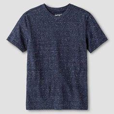 Boys' Heathered V-Neck T-Shirt - Cat & Jack, Size: Xxl, Blue, Durable