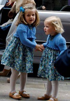 Too cute:  Leonor and Sofia of Spain
