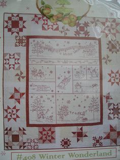 408 Winter Wonderland Hand Embroidery Quilt by agardenofroses