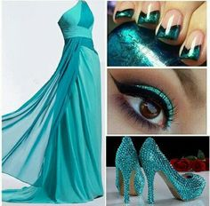 teal prom