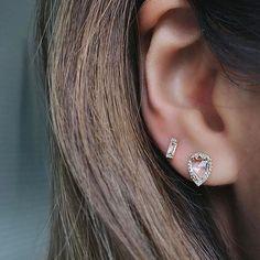 EF Collection Diamond White Topaz Stud Earrings yaJAFO