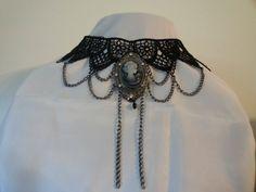 Cameo Lace Necklace by MysticalMayhem on Etsy, $35.00