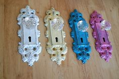 Wall Hook / Glass Doorknob on Pick Your Color by YourGreatestStory