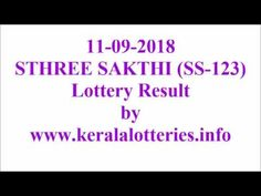 Kerala lottery result video of sthree sakthi SS-123 on 11-09-2018