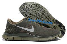 Iguana Reflect Silver Cargo Khaki Nike Free 4.0 V2 Men's Running Shoes