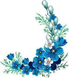 "Photo from album ""Наборы on Yandex. Flower Pattern Drawing, Flower Patterns, Flower Background Wallpaper, Flower Backgrounds, Flower Frame, Flower Art, Vintage Flowers, Blue Flowers, Blue Flower Png"