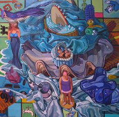 """Monopolized Still Life #1"" 2010  20"" x 20"" oil/canvas"