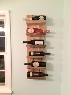 Wine Rack Shelving by RustiKRehabDesign on Etsy