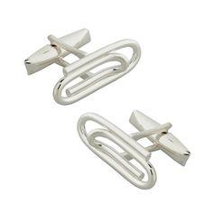 Sazingg's 925 Silver Paperclip Cufflinks  #sazingg #fathersday #gifts #cufflinks