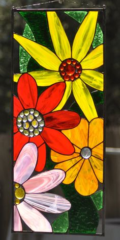 Stained glass Window Panel by JoannePaoneGill on Etsy, $350.00