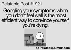 web md problems, this is so me!