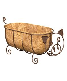 Look at this Rust Pig Planter & Coco Liner Set on #zulily today!