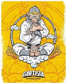 ✩ Check out this list of creative present ideas for people who are into photograhpy Jiu Jitsu Gym, Acid Art, Martial Arts Workout, Monkey King, Brazilian Jiu Jitsu, Comic Art, Art Drawings, Character Design, Illustration