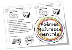 Dossier de poèmes pour faire son choix avant septembre, et se renouveler ! French Class, French Lessons, Kindergarten, French For Beginners, Education And Literacy, Teachers Corner, French Resources, Monthly Themes, French Immersion