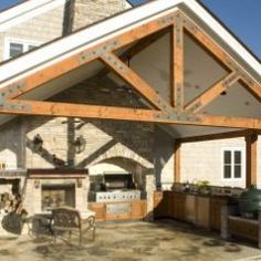 I like these beams for my outdoor space!