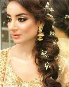 This is a collection of easy to make cute easy hairstyles for long image result for indian bridal side braid solutioingenieria Image collections