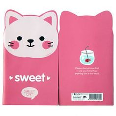 Cute Shaped Animal Notebook - Sweet Cat