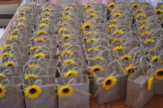 Items similar to Sunflower wedding party favor bags, Wedding favor bags, Wedding gifts on Etsy Sunflower Birthday Parties, Sunflower Party, Sunflower Baby Showers, Sunflower Gifts, Sunflower Wedding Favors, Sun Flower Wedding, Sunflower Seeds, Wedding Favor Bags, Party Favor Bags