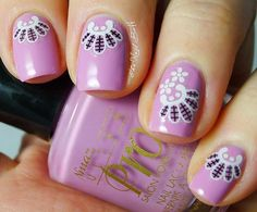Cute finger nails art