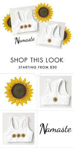 """""""Sunflower Workout Bras!"""" by vanidclothing ❤ liked on Polyvore"""