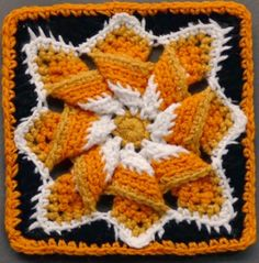 Lovely Pinwheel Star Square Tutorial