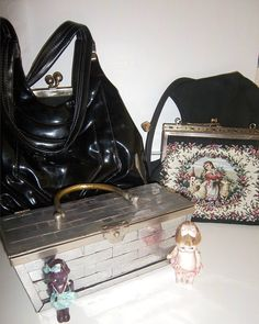 Instant Vintage Purse Collection  Four in all by KarmaRox on Etsy, $145.00
